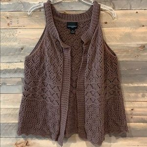 Brown Knit Vest